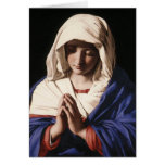 """""""La Virgen en rezo"""" por Sassoferrato (1640) Tarjeton"""