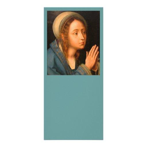 La Virgen en rezo Diseños De Tarjetas Publicitarias