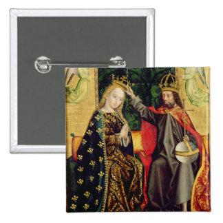La Virgen Enthroned, del altar de la bóveda, 1499 Pin Cuadrado