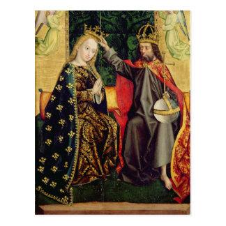 La Virgen Enthroned, del altar de la bóveda, 1499 Tarjeta Postal