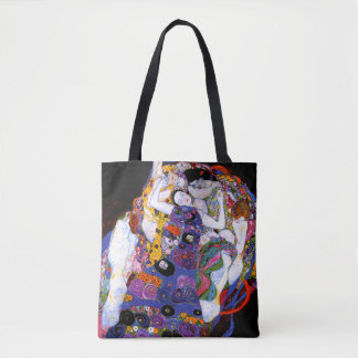La Virgen por la bella arte de Gustavo Klimt Bolsa De Tela