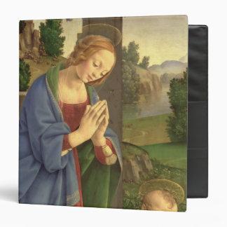 """La Virgen que adora al niño, 1490-1500 Carpeta 1 1/2"""""""
