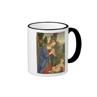 La Virgen que adora al niño, 1490-1500 Taza De Dos Colores