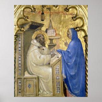 La Virgen que aparece a St Bernard, detalle de a Impresiones
