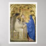 La Virgen que aparece a St Bernard, detalle de a Póster