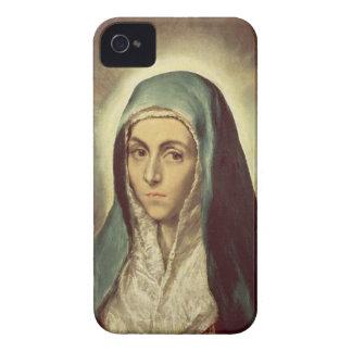 La Virgen que está de luto (aceite en lona) iPhone 4 Coberturas