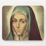 La Virgen que está de luto (aceite en lona) Mouse Pads