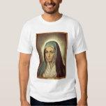 La Virgen que está de luto (aceite en lona) Remera