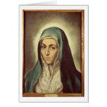 La Virgen que está de luto (aceite en lona) Tarjeta De Felicitación