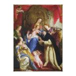 La Virgen que ofrece el rosario Lona Estirada Galerías