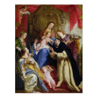 La Virgen que ofrece el rosario Tarjetas Postales