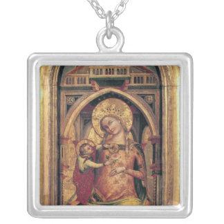 La Virgen y el niño, 1372 Colgante Cuadrado