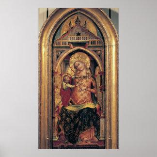 La Virgen y el niño, 1372 Póster