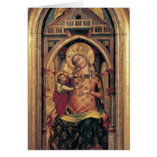 La Virgen y el niño, 1372 Tarjeta De Felicitación
