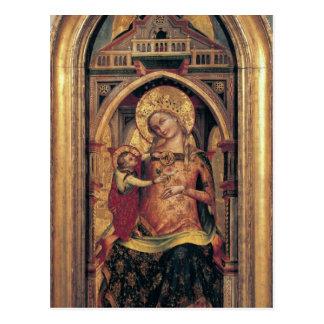 La Virgen y el niño, 1372 Tarjeta Postal