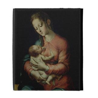 La Virgen y el niño (aceite en el panel)