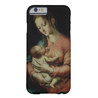 La Virgen y el niño (aceite en el panel) Funda De iPhone 6 Barely There