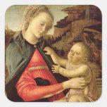 La Virgen y el niño c.1465-70 Pegatinas