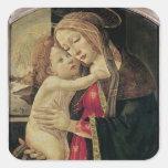 La Virgen y el niño, c.1500 Calcomanía Cuadradase