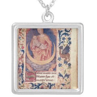 La Virgen y el niño Pendiente Personalizado