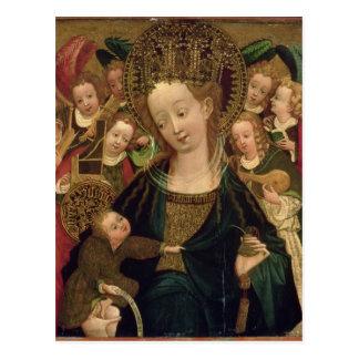La Virgen y el niño con ángeles Tarjetas Postales