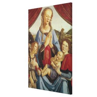La Virgen y el niño con dos ángeles, c.1470 Impresiones En Lienzo Estiradas