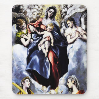 La Virgen y el niño con el cojín de ratón del St Alfombrilla De Raton