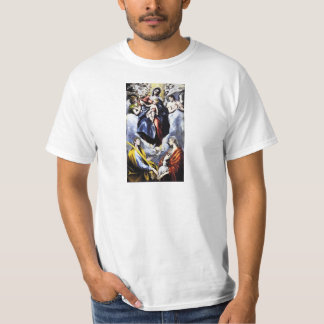 La Virgen y el niño con la camiseta del St. Martin Playera