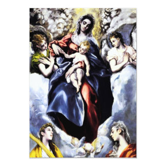"""La Virgen y el niño con las invitaciones del St. Invitación 5"""" X 7"""""""