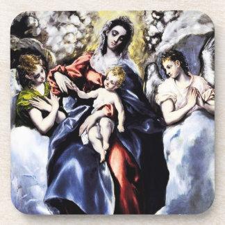 La Virgen y el niño con los prácticos de costa del Posavasos De Bebida