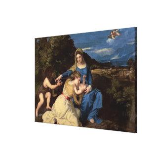La Virgen y el niño con los santos, 1532 Impresión En Tela