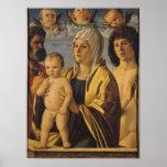 La Virgen y el niño con San Pedro y el St. Posters