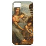 La Virgen y el niño con St Anne por da Vinci iPhone 5 Cobertura