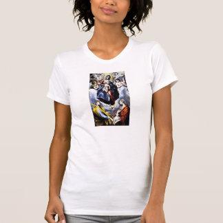 La Virgen y el niño con St. Martina Camisetas