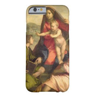 La Virgen y el niño con un santo y un ángel, C. Funda Para iPhone 6 Barely There