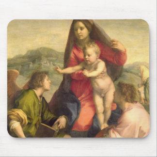 La Virgen y el niño con un santo y un ángel, C. Mousepads