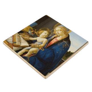 La Virgen y el niño de Sandro Botticelli Posavasos De Madera