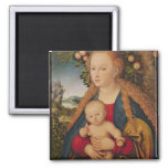 La Virgen y el niño debajo de un manzano Iman