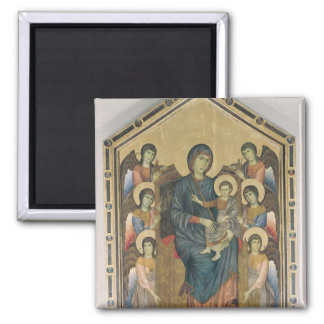 La Virgen y el niño en majestad Imán Cuadrado