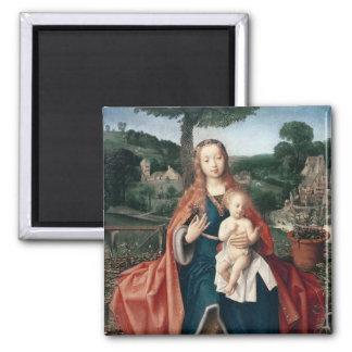 La Virgen y el niño en un paisaje Imán Para Frigorifico