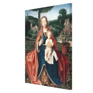 La Virgen y el niño en un paisaje Impresión En Lona Estirada