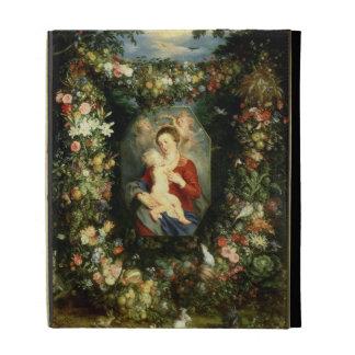 La Virgen y el niño en una guirnalda de la fruta y