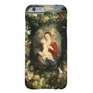 La Virgen y el niño en una guirnalda de la fruta y Funda De iPhone 6 Barely There