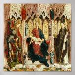 La Virgen y el niño Enthroned, c.1475 Impresiones