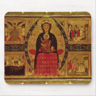 La Virgen y el niño Enthroned Mousepad