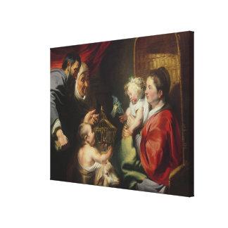 La Virgen y el niño Impresión En Lienzo