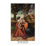 La Virgen y el niño por Lucas Cranach (i) Tarjeta Postal