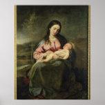 La Virgen y el niño Poster