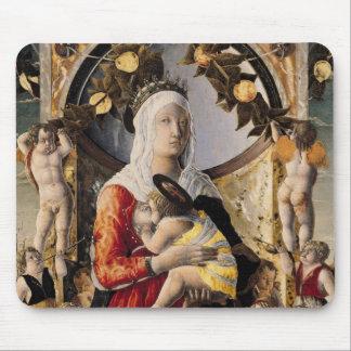 La Virgen y el niño rodeados por ocho Alfombrilla De Ratones