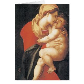 La Virgen y el niño Tarjeta De Felicitación